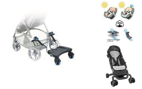 Be Cool Pedana Wave + foderina Aeromoov per passeggino